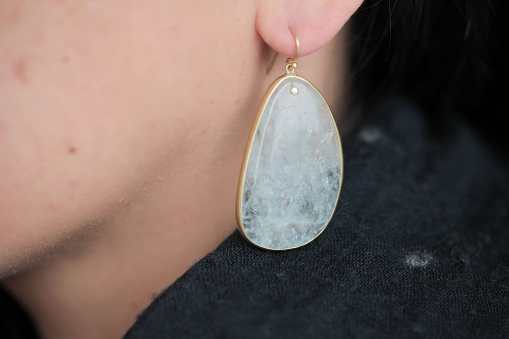 Load image into Gallery viewer, Tej Kothari Aquamarine Slice Earrings | OK