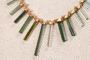 Racherl Atherley Tourmaline Fishbone Necklace  |  OK