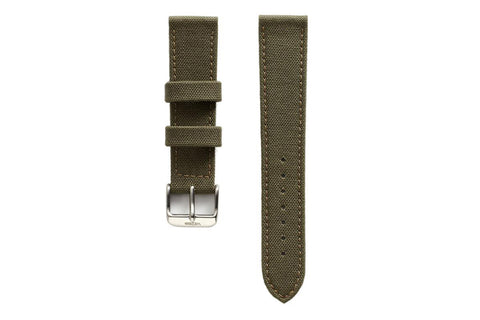 WEISS OLIVE GREEN CANVAS WATCH BAND | OK