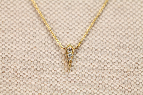 <small>Lizzie Mandler</small><br> Kite Necklace With White Diamonds