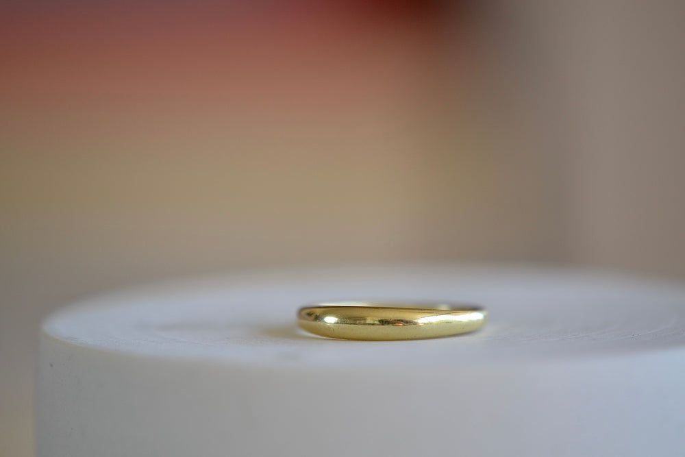 Ila Bali ring tapered band 14k sustainable yellow gold domed and tapered