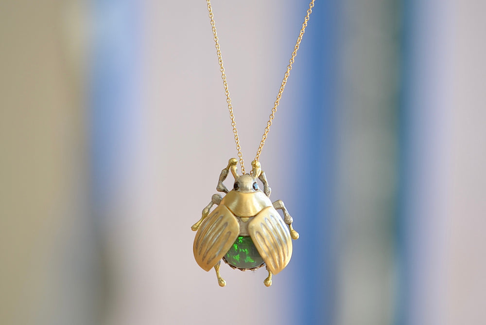 Kanabun with Ancient Opal Beetle Necklace