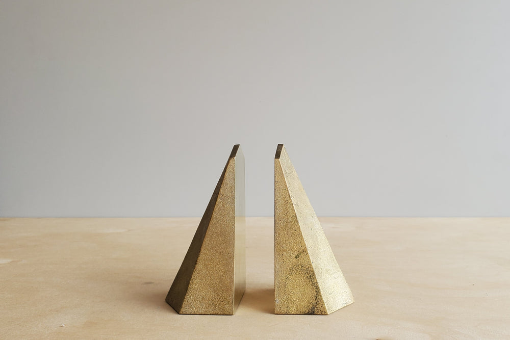 Load image into Gallery viewer, Japanese Brass Bookends