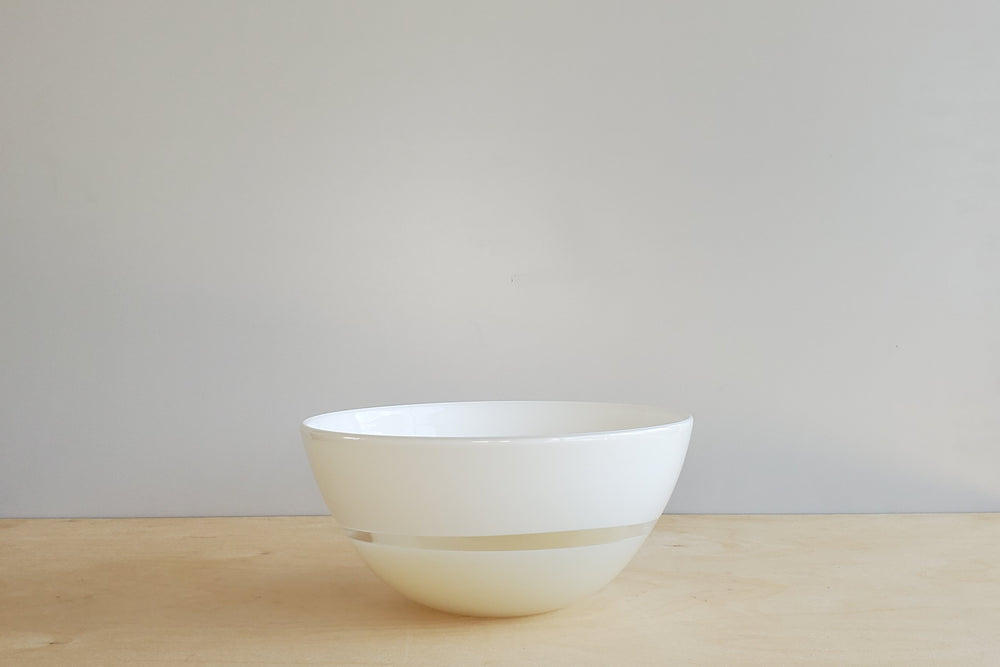 Lattimo White & Ivory Bowl Small