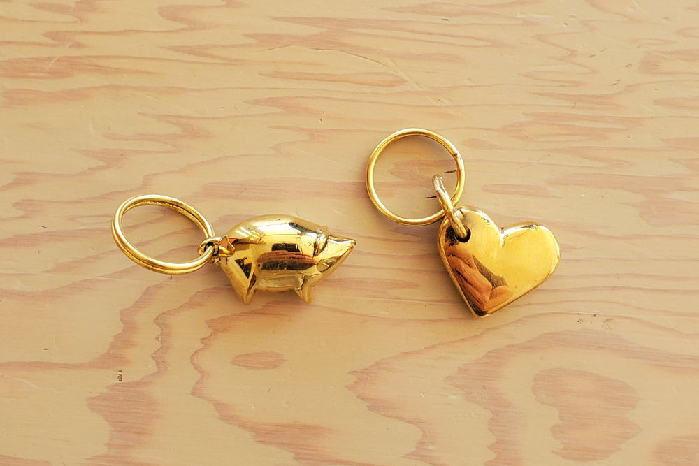 "Key Rings ""Pig #4500"" and ""Heart #5600"""