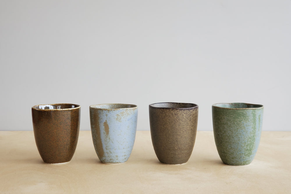 Load image into Gallery viewer, Set of 4 Japanese Cups