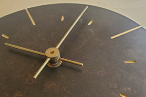 "Japanese Cast Brass Clock ""Orb"" Patina Finish"