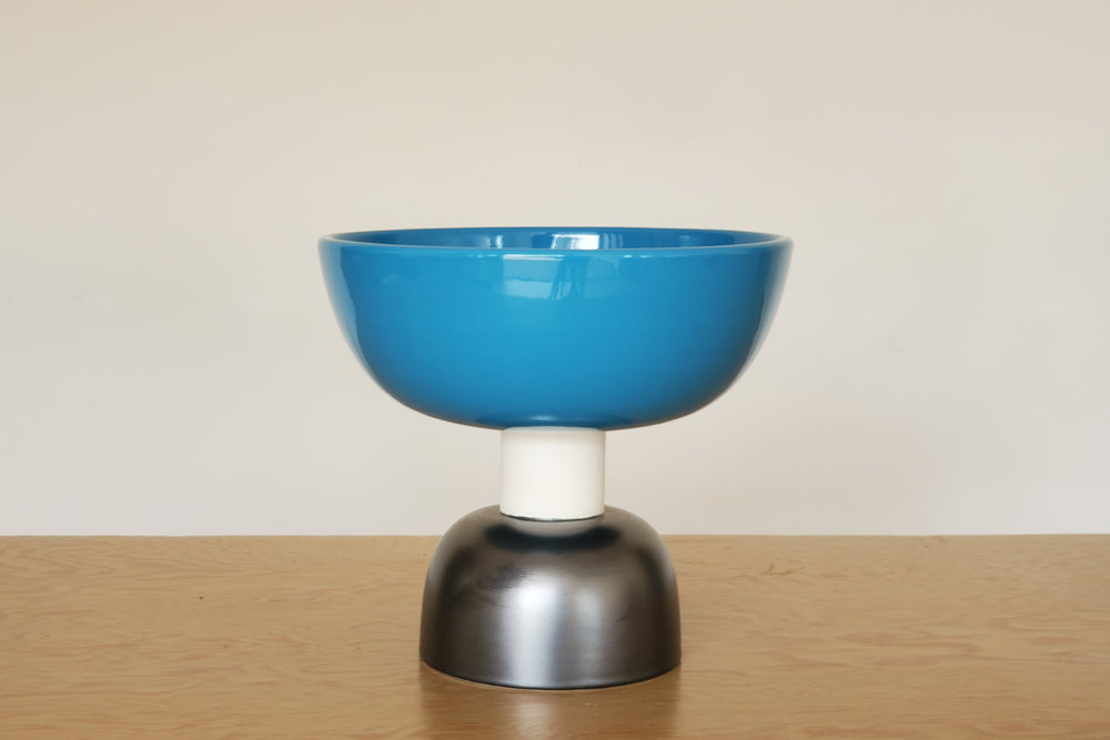 Sottsass Alzata in Black and Blue from Bitossi