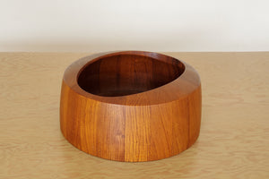 Vintage Dansk Staved Teak Cateye Salad Bowl