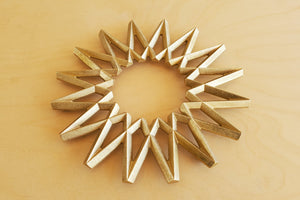 "Japanese Brass ""Galaxy"" Trivet"