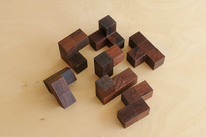 Load image into Gallery viewer, Vintage Danish Rosewood Soma Puzzle / Cube