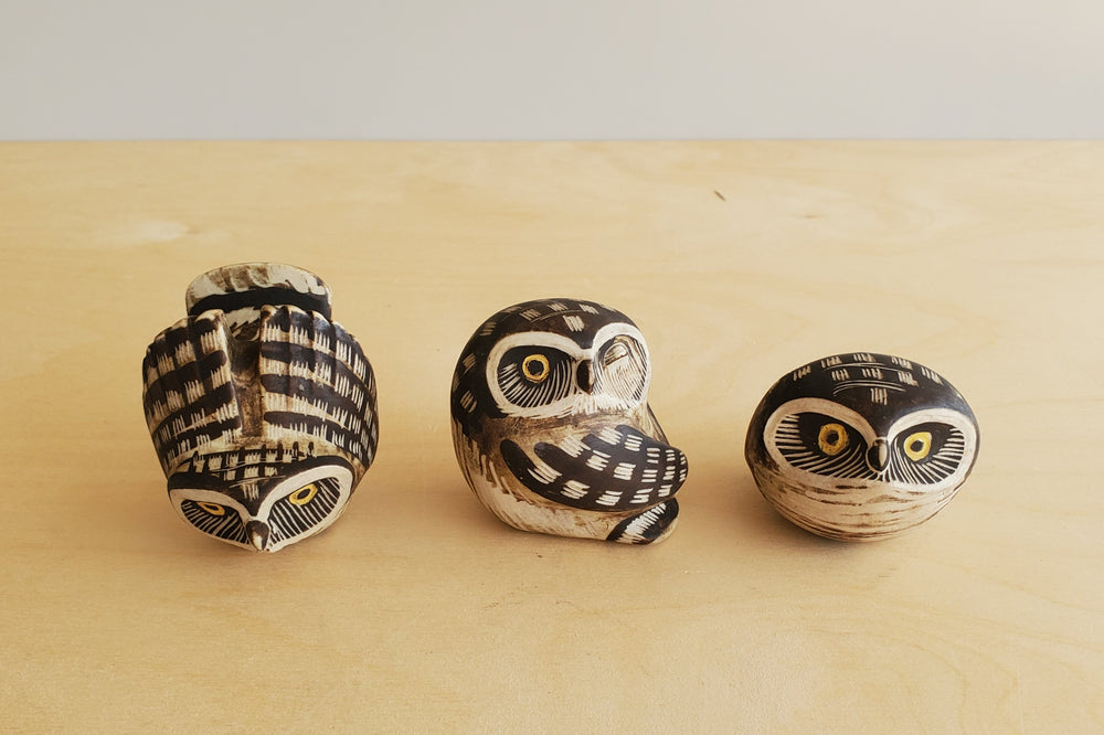 Vintage Ceramics - Set of 3 Gustavsberg Owls