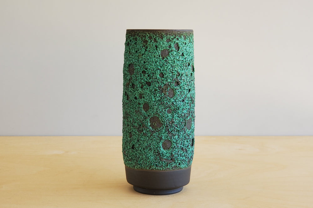 Load image into Gallery viewer, Heather Rosenman Green Vases in Volcanic Glaze