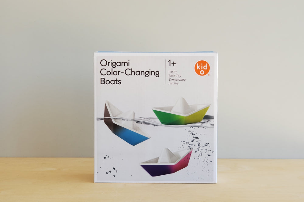Load image into Gallery viewer, Origami Color Changing Bathtub boats from kid o