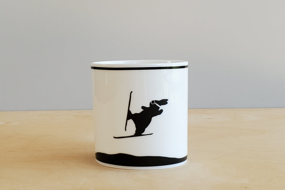 Rabbit Ski Jumping Mug