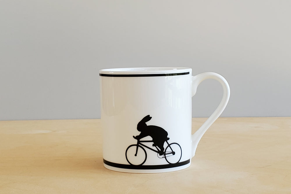 Rabbit Cycling Mug