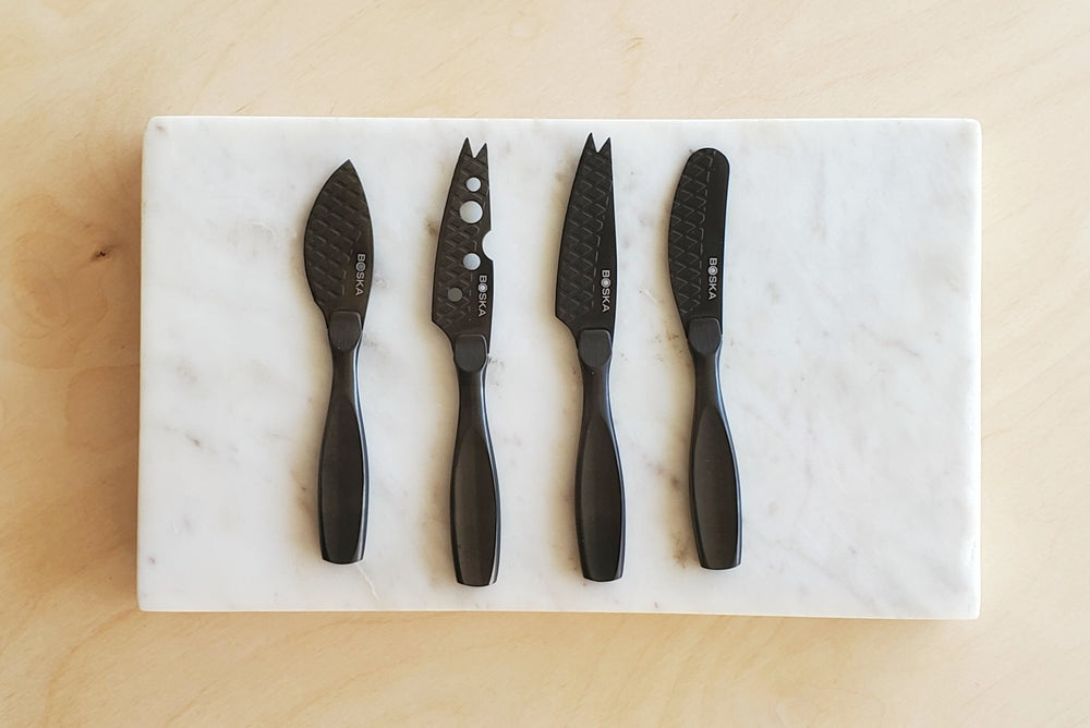Cheese Knives.  Mini Set of 4 in Black