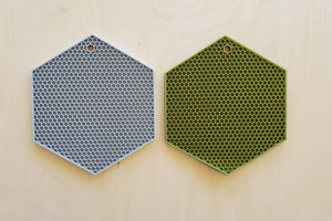 Honeycomb Silicon Trivet