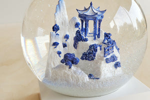 Cool Snow Globe - Blue Willow