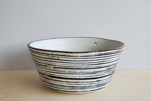 Circle Factory Black and White Bowl