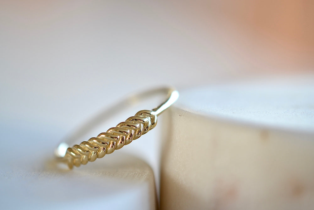 Jennie Kwon Braided Ring 14k yellow solid gold
