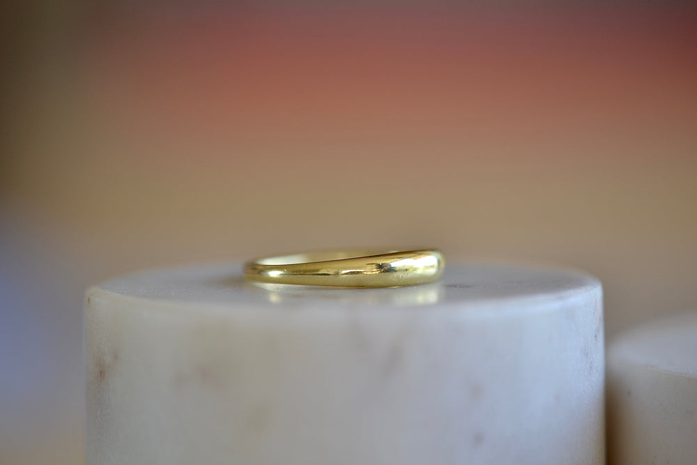 Ila Bali tapered band 14k sustainable yellow gold domed and tapered  ring