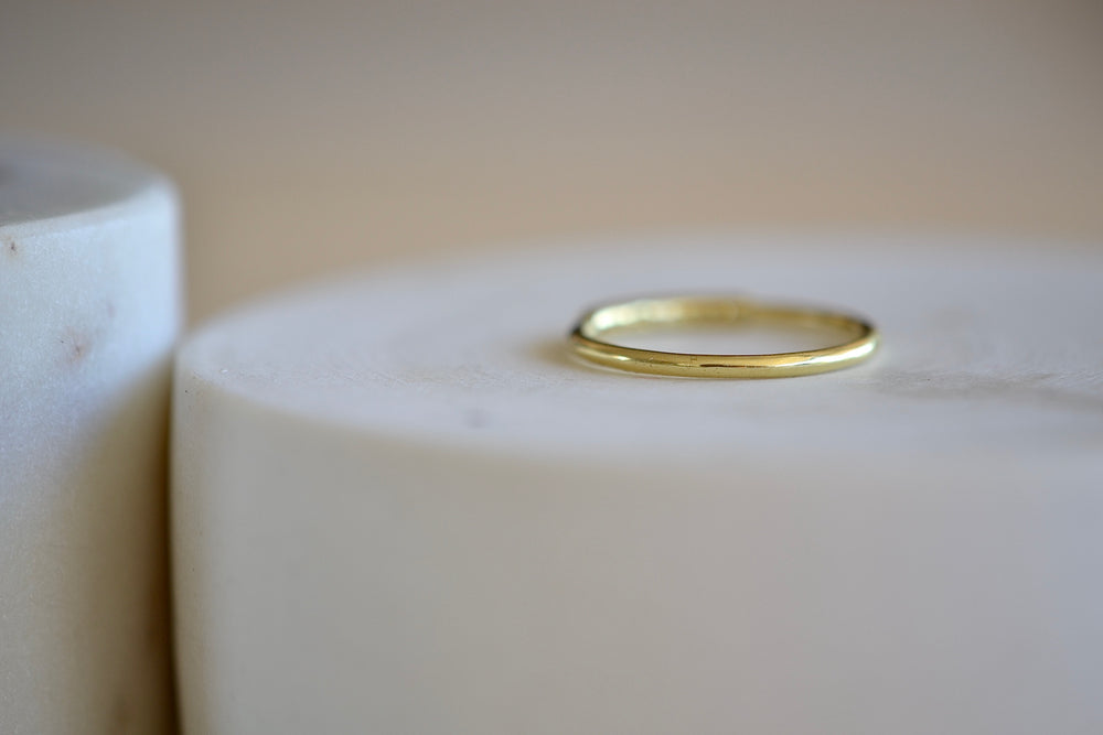 Load image into Gallery viewer, Ila Carel half eternity band eleven 11 white diamond 14k yellow sustainable gold