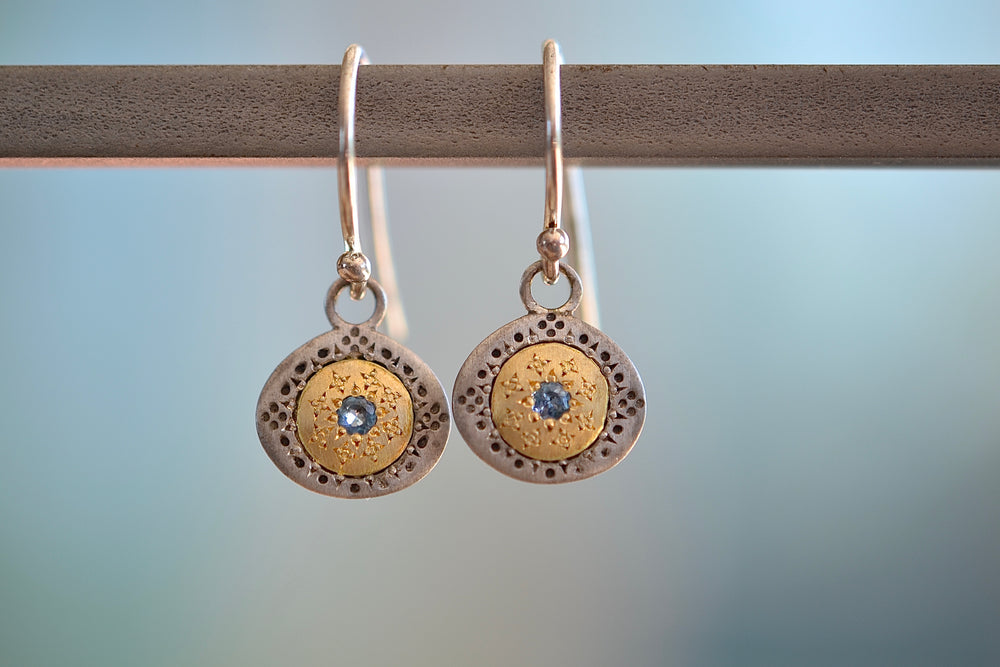 Seeds of Harmony Aquamarine Earrings