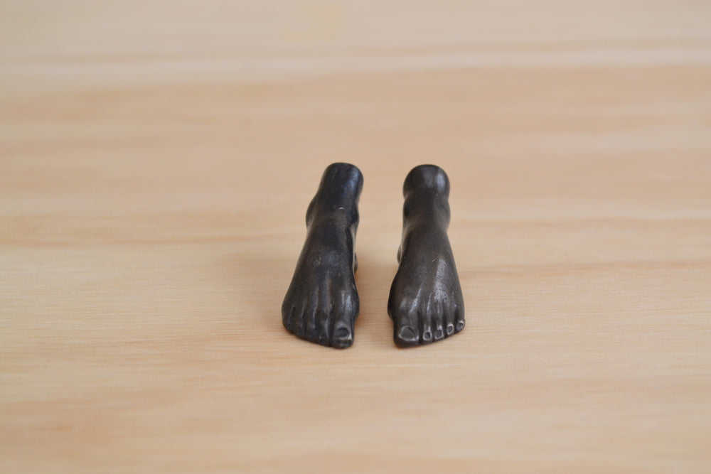 "Bronze Objects Pair Tiny Feet ""En Pointe"""