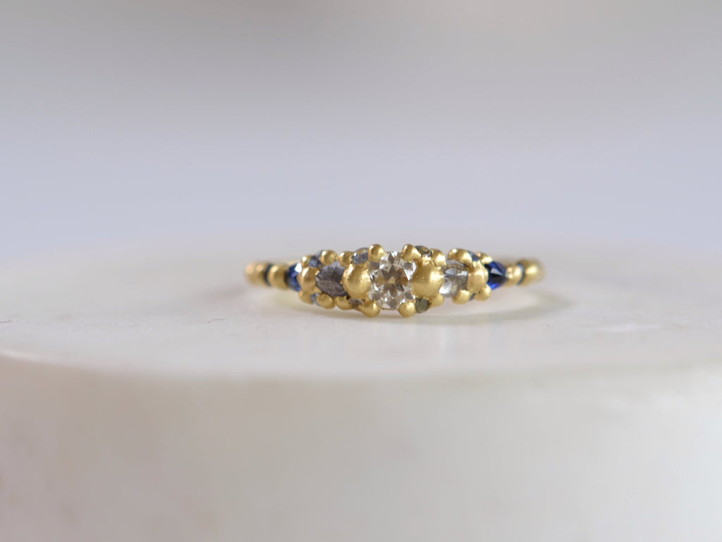 <small>Polly Wales</small><br>Blue Marietta Diamond Ring