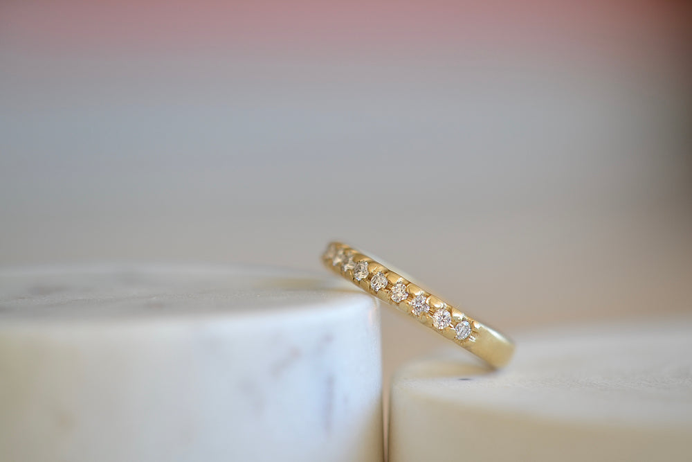 Black Barc Mizuki Hina Half Eternity 18k yellow gold wedding band