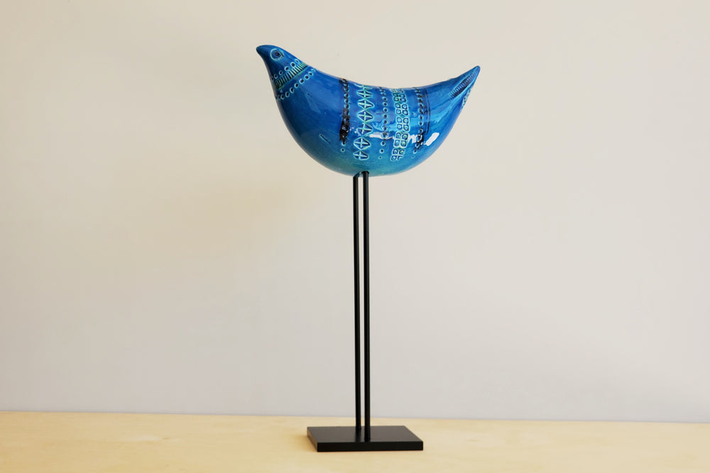 Load image into Gallery viewer, Rimini Blu Bird on Stand