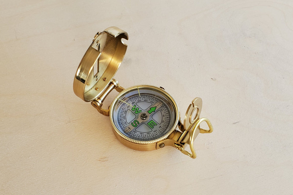 Compass in Brass