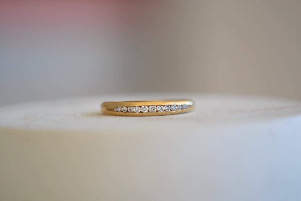 Large Tapered Diamond Band