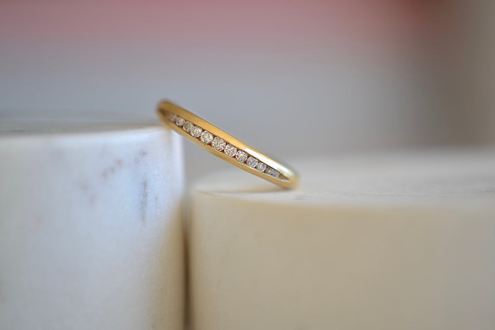 Gillian Conroy Tapered Diamond Band Half eternity 18k yellow gold 14 fourteen brilliant diamonds