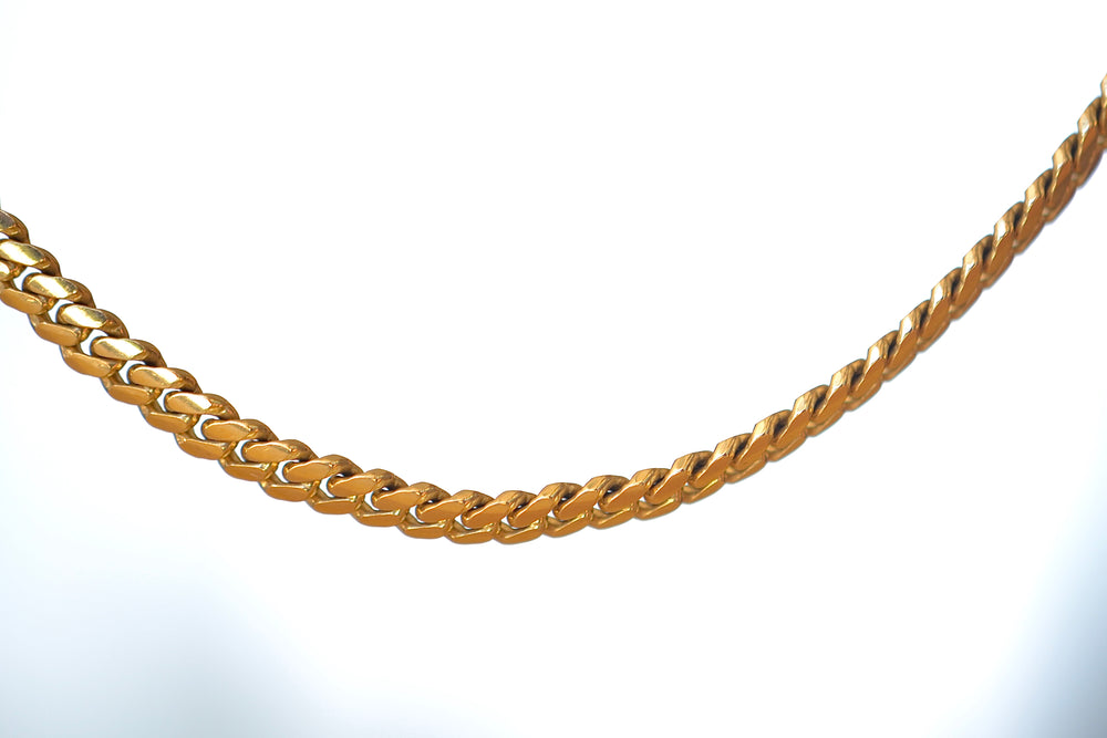 "OK Chain Bar Cuban Chains 14k gold 20"" rope chain in 3mm wide Handmade in Los Angeles"