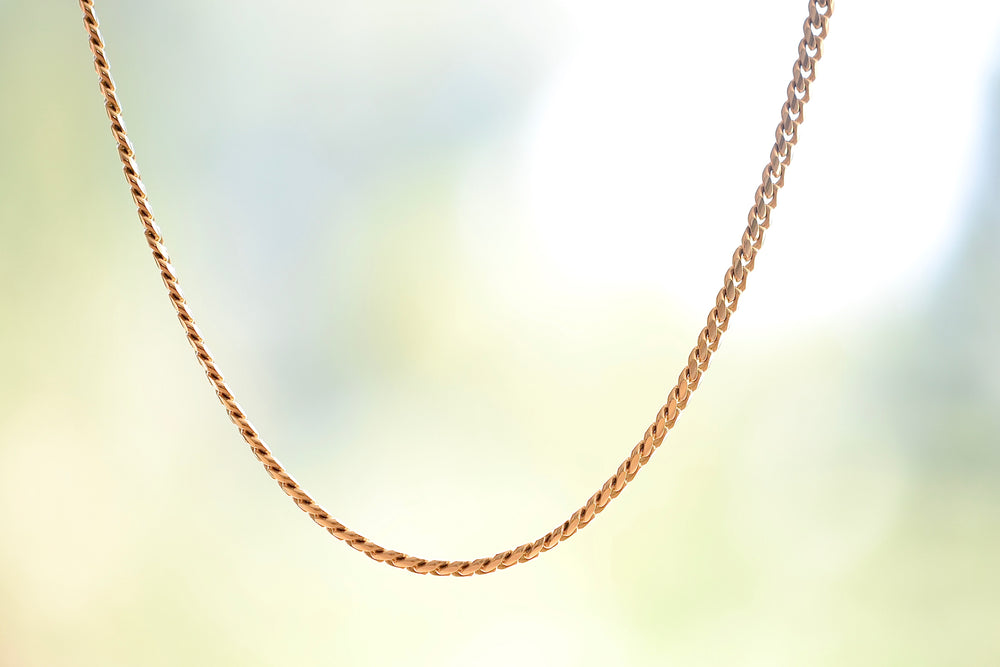 "OK Chain Bar Cuban Chains 14k yellow gold 20"" in 4mm wide Handmade in Los Angeles"