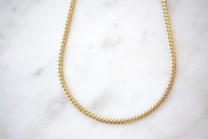 "OK Chain Bar Cuban Chains 14k gold 20"" rope chain in 4mm wide Handmade in Los Angeles"
