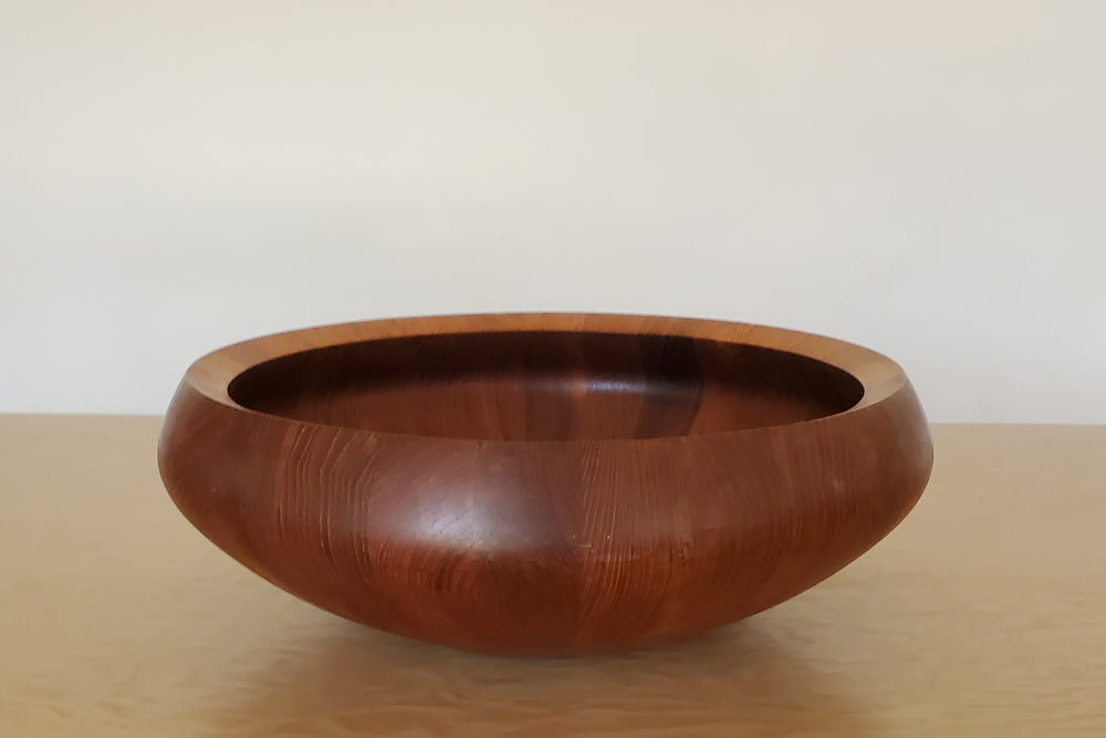 Vintage Dansk Staved Teak Very Large Bowl