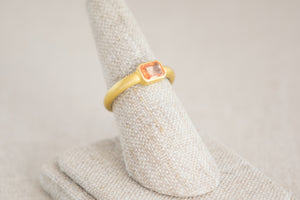 Kothari Orange Sapphire Ring 22k yellow gold