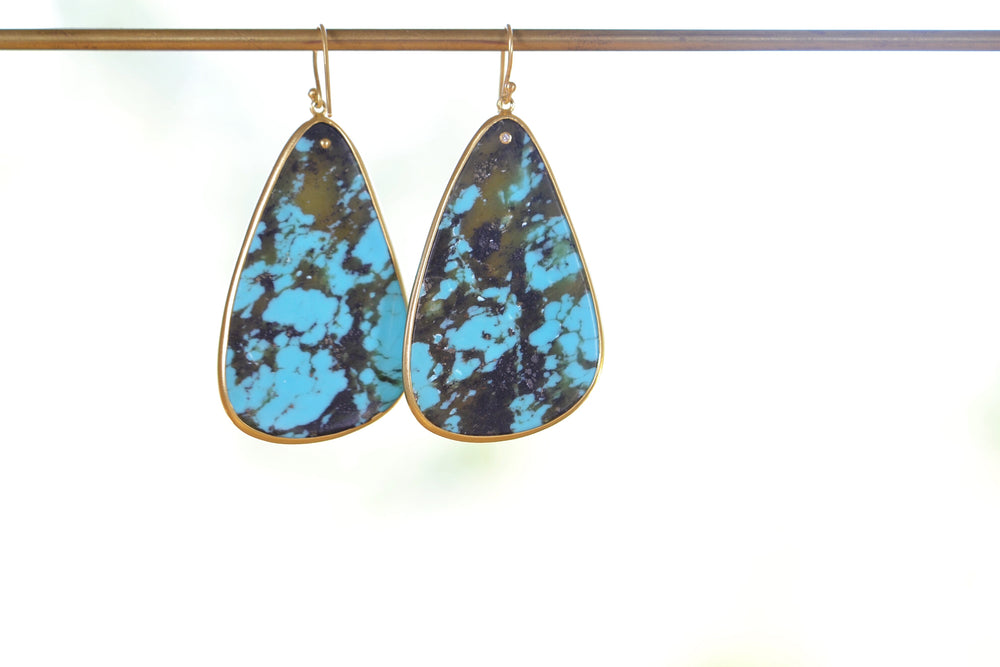 XL Turquoise Slice Earrings