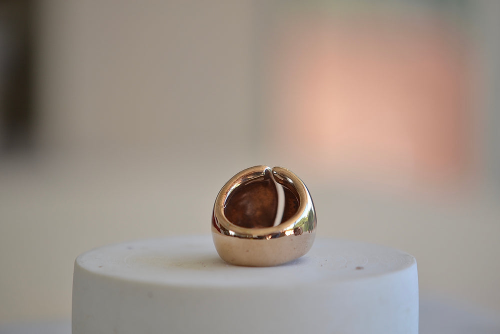 Load image into Gallery viewer, Monica Castiglioni Bombati Ring 18A Ring Bronze