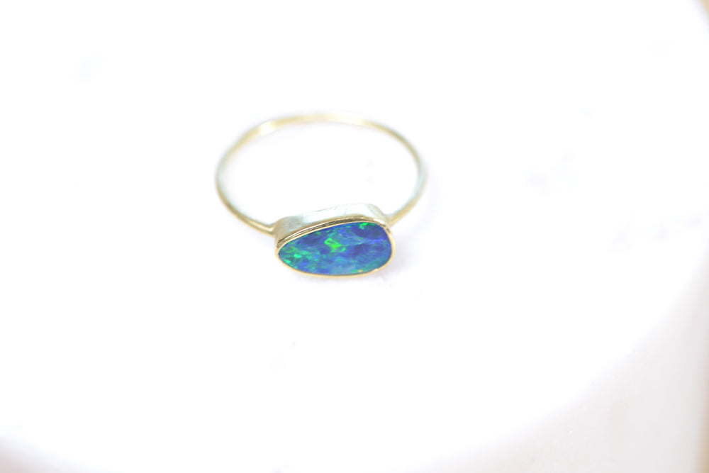 Load image into Gallery viewer, Boulder Opal Free Form Ring