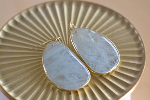 Aquamarine Slice Earrings