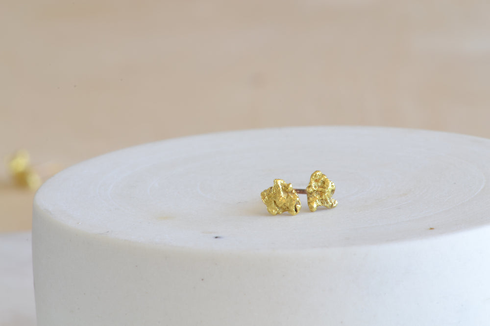 OK Gold Nugget Studs Medium sized