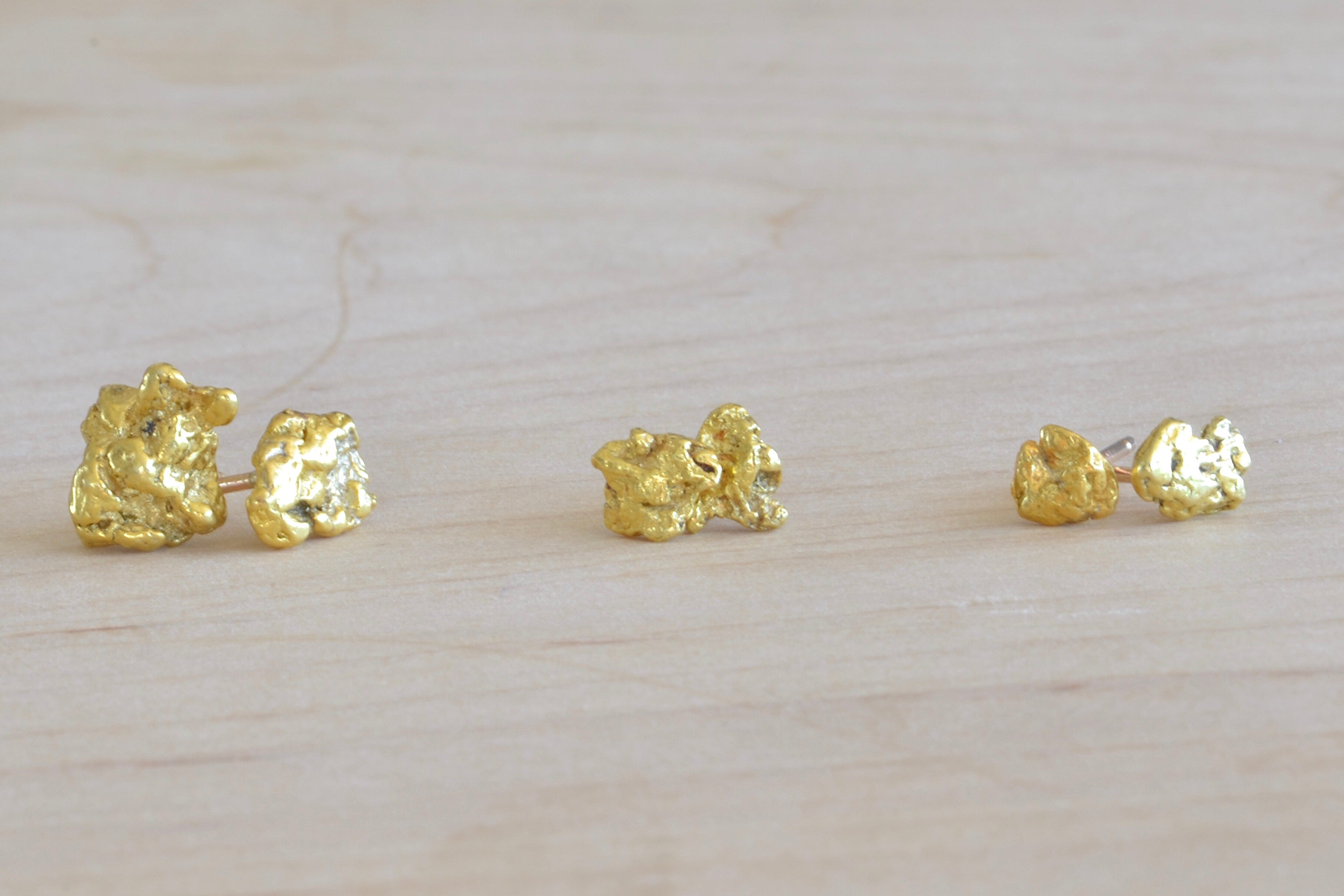 Petite rounded corners 8 Vintage Brass Earring Charms domed squares