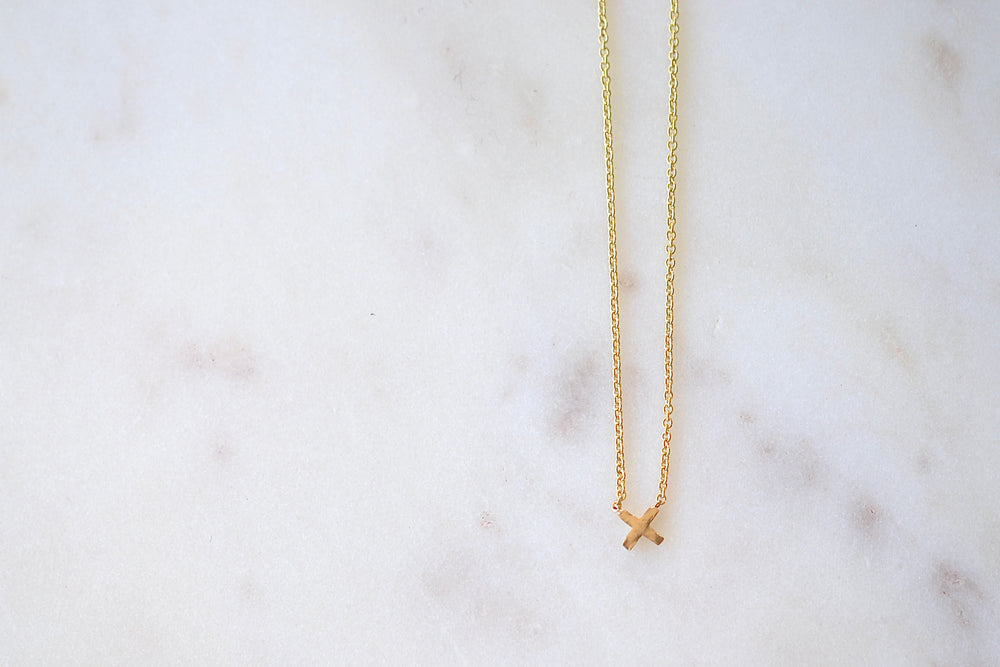 Lizzie Mandler X Necklace 18k yellow gold choker 14k yellow gold chain