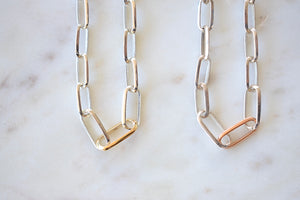 Lizzie Mandler Graduating Links Choker in Silver Gold or Rose gold 18k