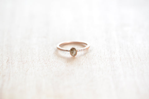 <small>Jennifer Dawes</small><br>Stacking Stone Ring