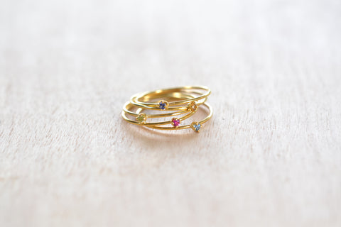 <small>OK Jewelry</small><br> Birthstone Rings